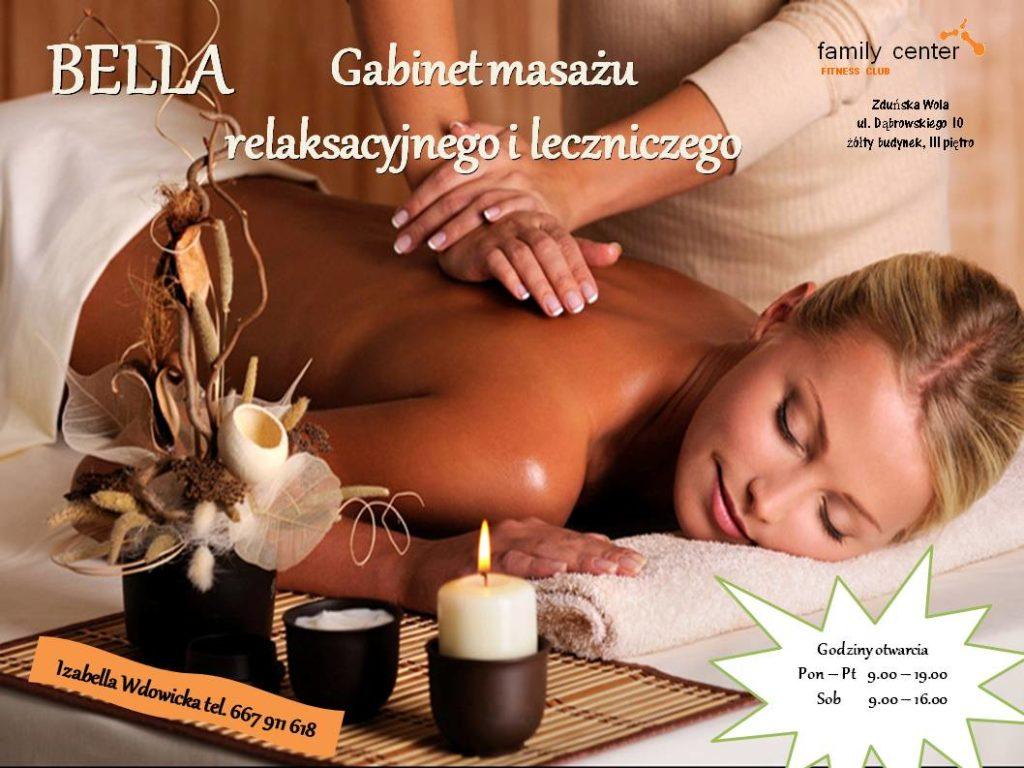 plakat masaże